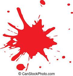 邊帶潑喇聲, 或者, 血液, 紅色, 墨水