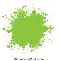 邊帶潑喇聲, 綠色, 墨水