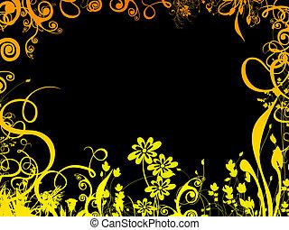 邊框, 色彩豐富的葉子
