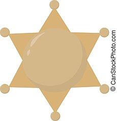 郡長, 插圖, 星, 背景。, 矢量, 白色
