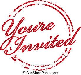 郵票, 你被邀請, 邀請, rsvp