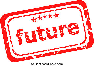郵票, 在上方, 橡膠, 未來, 背景, 白色紅
