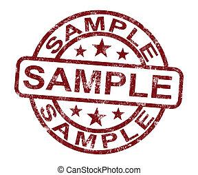 郵票, 符號, 或者, 樣品, 味覺, 例子, 顯示
