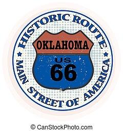 郵票, 路線, 具有歷史意義, 俄克拉何馬