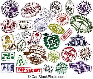 郵票, 集合, mega