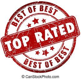 郵票, 頂部, rated
