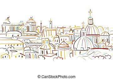都市風景, 圖案, 你, 背景, 設計, seamless