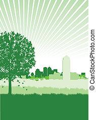 都市風景, 樹