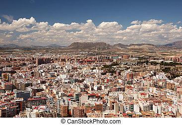 都市風景, alicante, 西班牙, catalonia