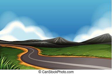鄉村的道路, 風景