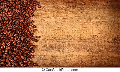 鄉村, 咖啡, 木頭, 豆, 烤