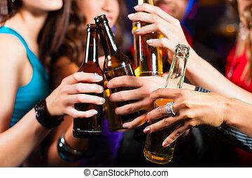 酒吧, 人們, 俱樂部, 啤酒, 喝酒, 或者