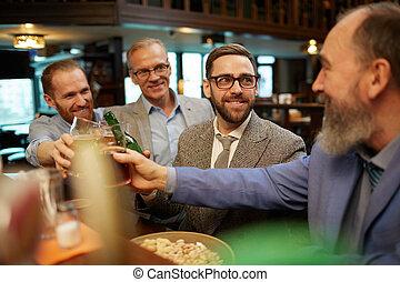 酒吧, 啤酒, 朋友
