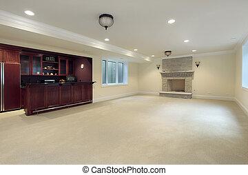 酒吧, 壁爐, 地下室