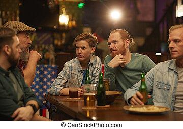 酒吧, 會議, 朋友, 有