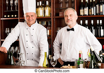酒吧, 餐館, 侍者, 廚師, 烹調, 酒