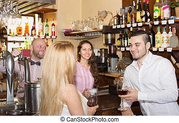 酒, 夫婦, 喝酒, 酒吧
