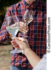 酒, 敬酒, 夫婦, 釀酒廠