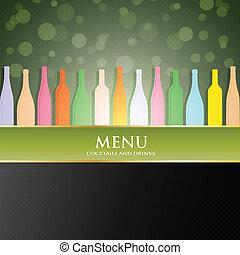 酒, 菜單, 矢量, 覆蓋