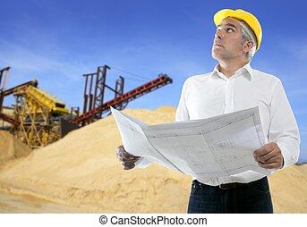 采石場, 專門技能, 計劃, 建築師, 年長者, 工程師