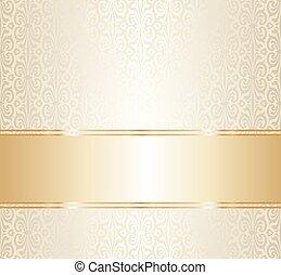 重复, 金, 牆紙, 婚禮