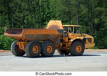 重的裝置, 卡車, 堆放處