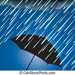 重, 保護, 傘, 雨
