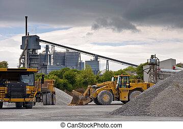 重, 石頭, 工業, 采石場, 大, 機械