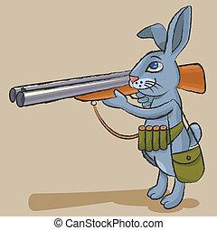 野兔, 獵人, -