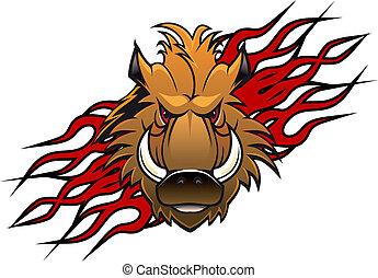 野生的野豬, 紋身