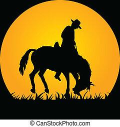 野生的馬, 牛仔