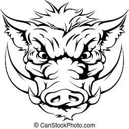 野豬, 吉祥人, 臉