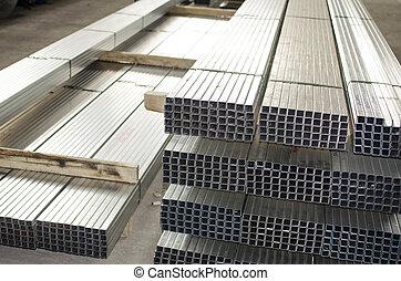 金屬, 生產, 大廳, 表, 外形