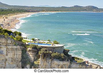 金槍魚, 西班牙, 海灘, sa, 看法, 空中, 胜地