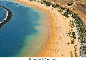 金絲雀, 西班牙, tenerife, 海灘, 島, teresitas