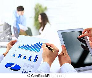 金融, 辦公室, 事務, work-group, 分析, 數据