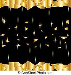 金, 水晶, 明亮, 摘要, 背景