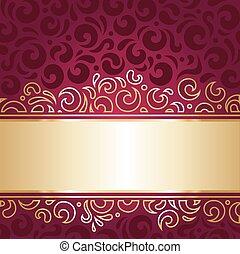 金, 牆紙, 紅色