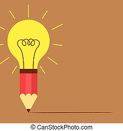 鉛筆, 光, 想法, 燈泡
