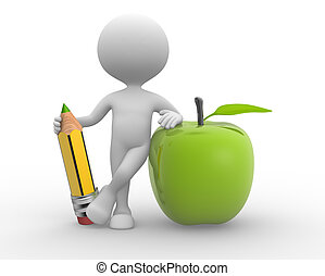 鉛筆, 蘋果