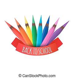 鉛筆, 鮮艷, 矢量, 覆蓋