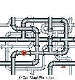 鉛錘測量, 迷宮, 管子, seamless