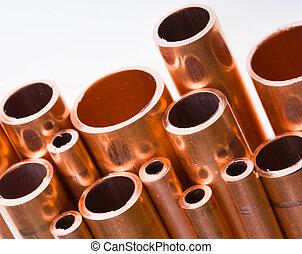 銅, 管子, 不同, 直徑