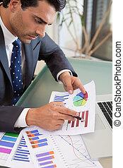 銷售, 統計數字, 肖像, 學習, 人, 年輕