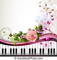 鋼琴鑰匙, 上升