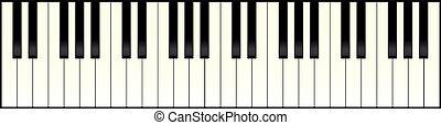 鋼琴, 長, 鍵盤
