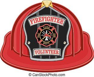 鋼盔, 志願者, 紅色, 消防人員