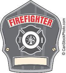 鋼盔, 消防人員, 徽章