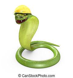 鋼盔, 眼鏡蛇, 綠色, 彎曲, 黃色