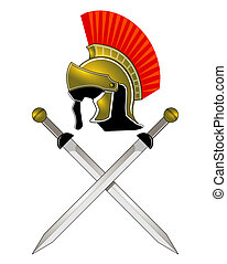 鋼盔, 羅馬, 劍